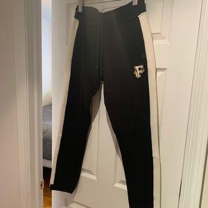PUMA x Fenty black sweatpants with white stripe